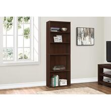 "BOOKCASE - 72""H / CHERRY WITH 5 SHELVES"
