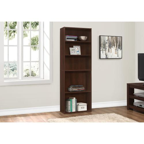 """BOOKCASE - 72""""H / CHERRY WITH 5 SHELVES"""