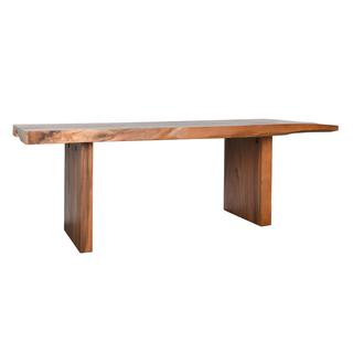 See Details - Straight Edge Dining Table 84\u0022 Natural