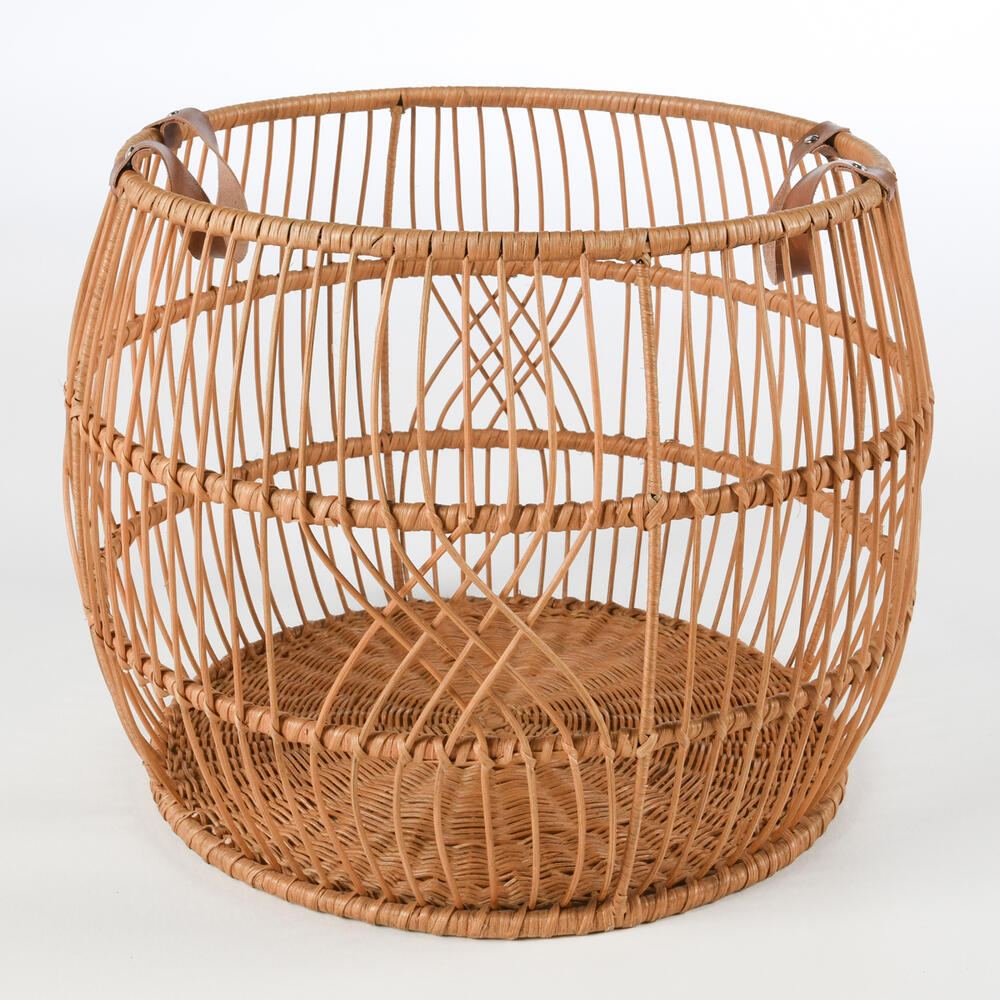 See Details - Rattan Iron Natural Basket 21x21x16