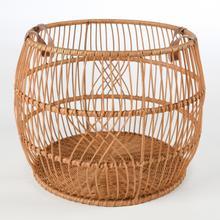 View Product - Rattan Iron Natural Basket 21x21x16