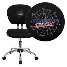 Richmond Spiders Embroidered Black Mesh Task Chair with Chrome Base
