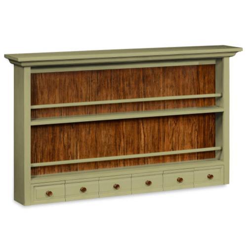 Gustavian style walnut plate rack