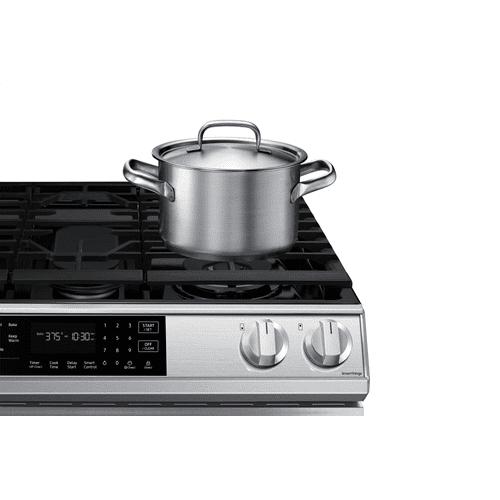 Gallery - 6.0 cu. ft. Gas Range with True Convection and Air Fry in Stainless Steel