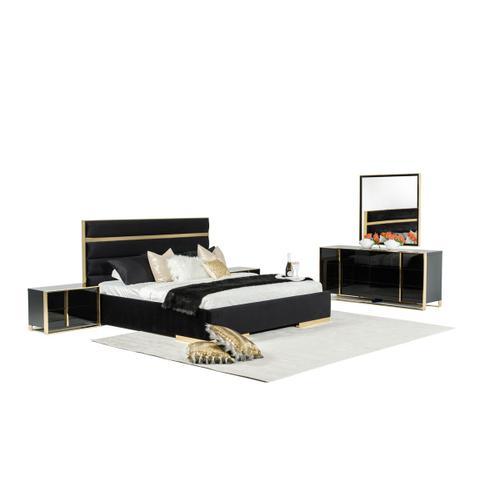 Nova Domus Montblanc Modern Black & Gold Bedroom Set