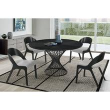 Cirque and Polly 5 Piece Black Round Dining Set