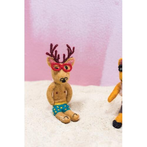 "6.75"" Brown E+E Vacay Ornament (Frankie Stag Option)"