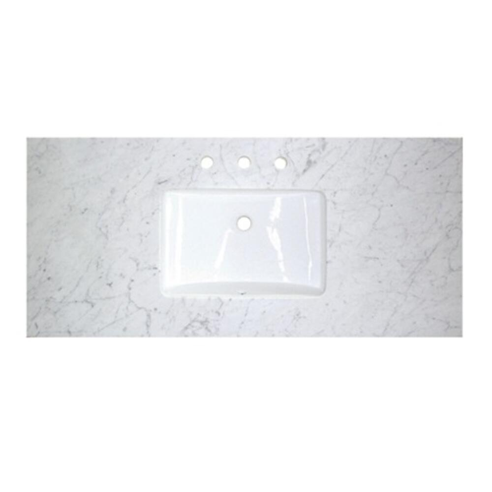 "3cm (1-1/4"") 48"" White Carrera (WC) Marble Top"
