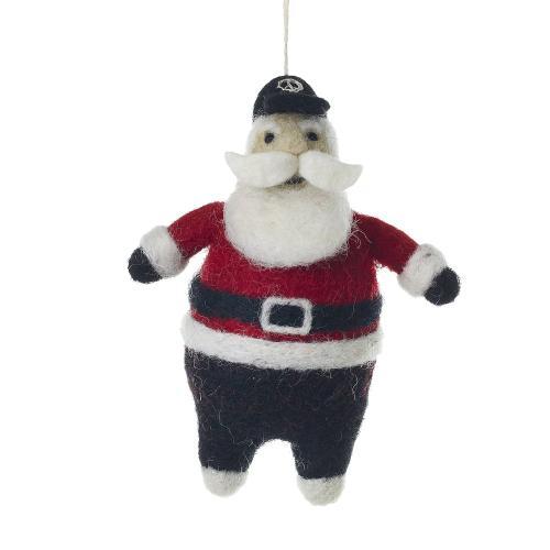 "4.5"" Hip Santa Ornament (New Yorker Option)"