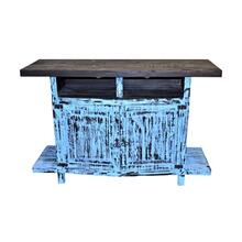 Blue Scrap TV Stand 55wx36hx20d