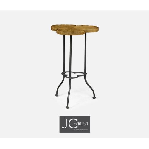 Trefoil Light Brown Chestnut Side Table