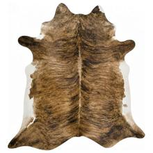 Brindle W/White Belly Cowhide