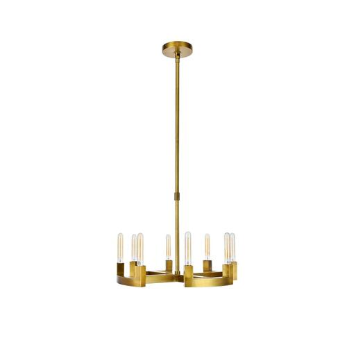 Corsica 8 light Burnished Brass Chandelier