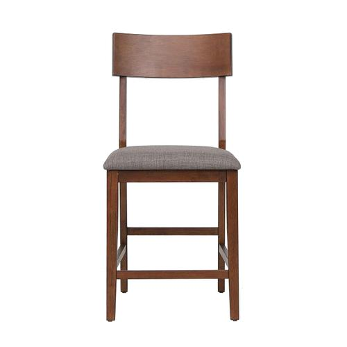 Counter Height Bar Stool w/Padded Performance Fabric Seat (Set of 2)