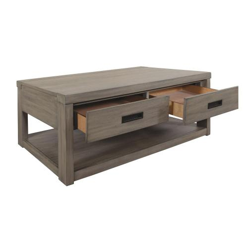 Riata Gray - Coffee Table - Gray Wash Finish
