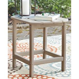 Sundown Treasure Rectangular End Table Grayish Brown