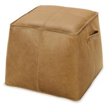 Product Image - Dizzy Small Leather Ottoman