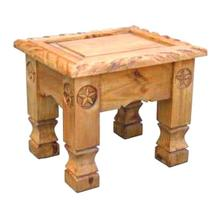 See Details - Rope End Table With Stars