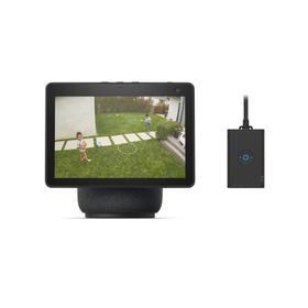 Echo Show 10 + Outdoor Smart Plug - Charcoal