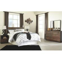 Queen Panel Headboard With Mirrored Dresser, Chest and 2 Nightstands