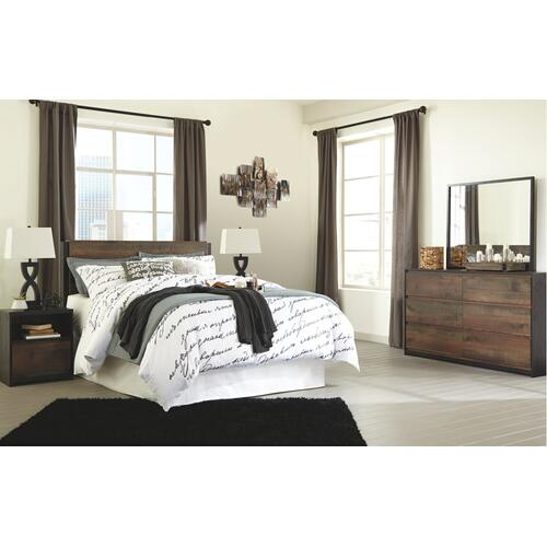 King Panel Headboard With Dresser