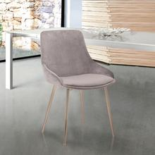 Heidi Grey Velvet Dining Accent Chair