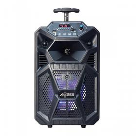 """8"""" Bluetooth® Portable Party Speaker LED Lights W/ Front Panel, Remote, TWS, USB, AUX-in, FM Radio, TF, Mic"""