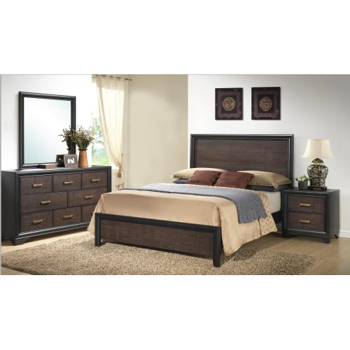 Emerald Home Prelude Queen Panel Bed Siderails Honey Black/brown B588-10r