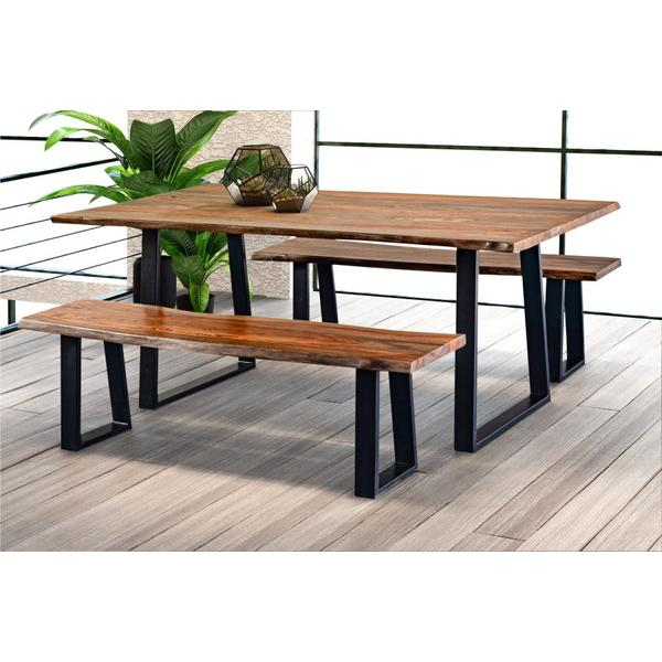 See Details - Manzanita Harvest Bench with Different Bases, VCS-BN60G