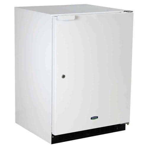 24-In General Purpose Refrigerator Freezer with Door Style - White