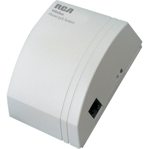 RCA - Wireless phone jack extension in off white color