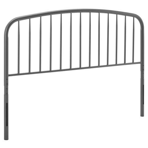 Modway - Nova King Metal Headboard in Gray