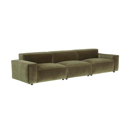 Olafur Upholstered 3-piece Modular Loveseat in Moss by A.R.T. Furniture