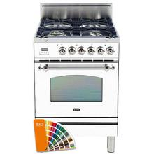 Nostalgie 24 Inch Gas Natural Gas Freestanding Range in Custom RAL Color with Chrome Trim
