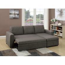Tahlia 2pc Sectional Sofa Set, Ash Black Cotton Blend