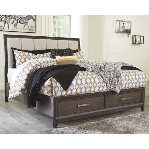 Brueban Queen Panel Bed With 2 Storage Drawers
