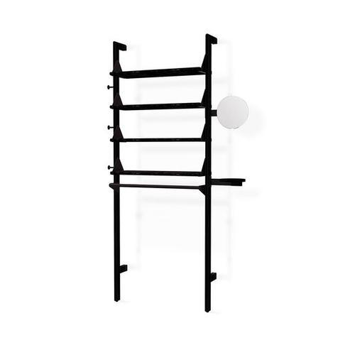 Product Image - Branch-1 Display Unit Black Uprights Black Brackets Black Shelves