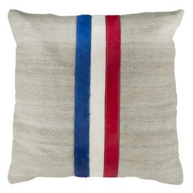 Torrance Cowhide Pillow - Grey / White / Red / Blue