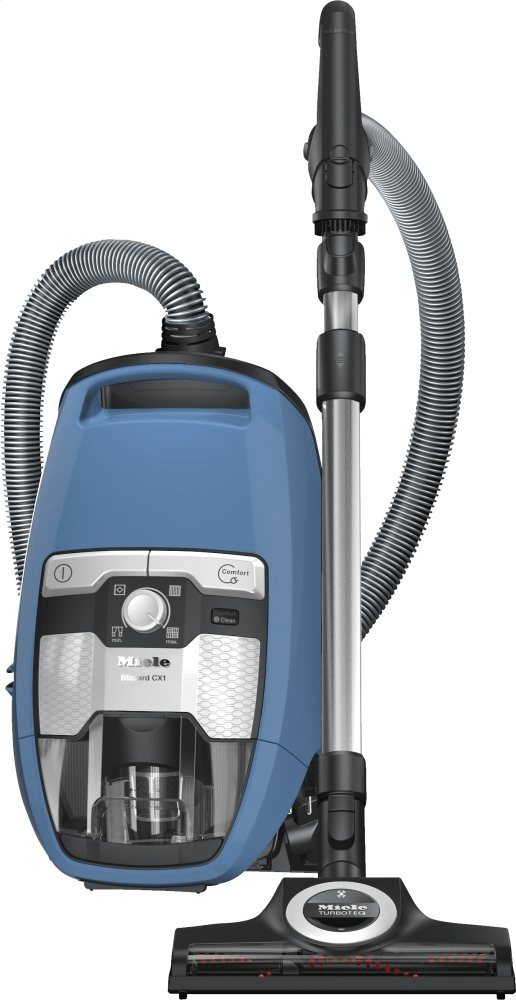 MieleBlizzard Cx1 Turboteam Powerline - Skce0 - Bagless Canister Vacuum Cleaners With Turbo Brush For Hard Floor And Low, Medium-Pile Carpeting.