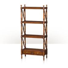 See Details - A four tier étagère