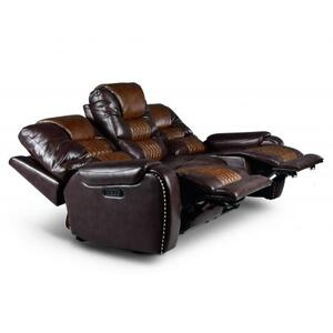 Park Avenue Triple Power Sofa, Brown