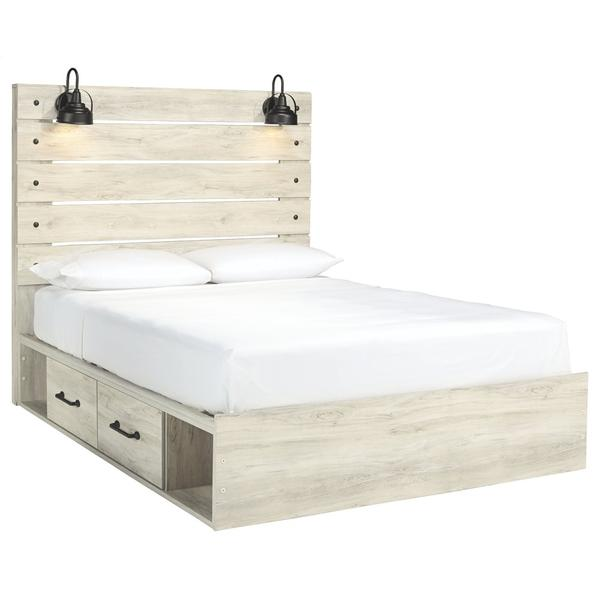 See Details - Cambeck Queen Panel Bed With 2 Storage Drawers