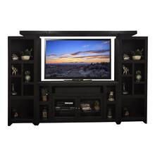 "Skyline 65"" Entertainment Center with TV Console, 2 Piers and Bridge"