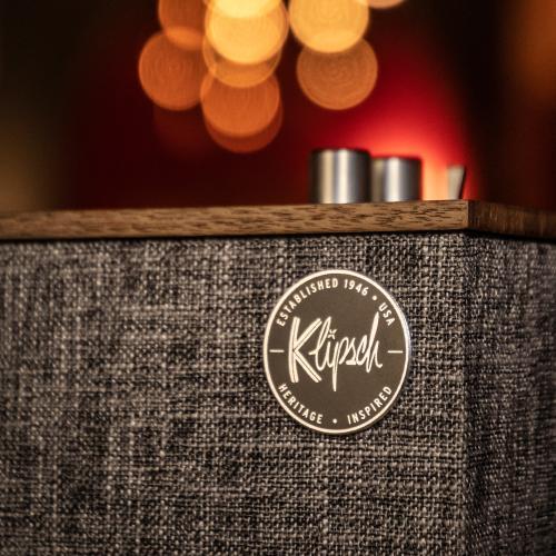 Klipsch - The Three II - Best Wireless Shelf Stereo - Walnut