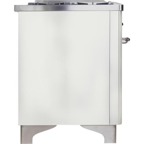 36 Inch White Dual Fuel Liquid Propane Freestanding Range