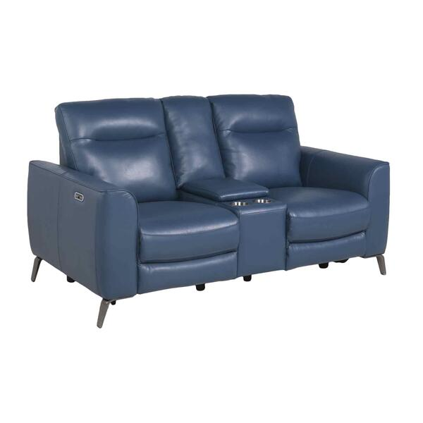 Sansa Dual-Power Reclining Console Loveseat