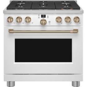 """Café™ 36"""" Smart Dual-Fuel Commercial-Style Range with 6 Burners (Natural Gas)"""