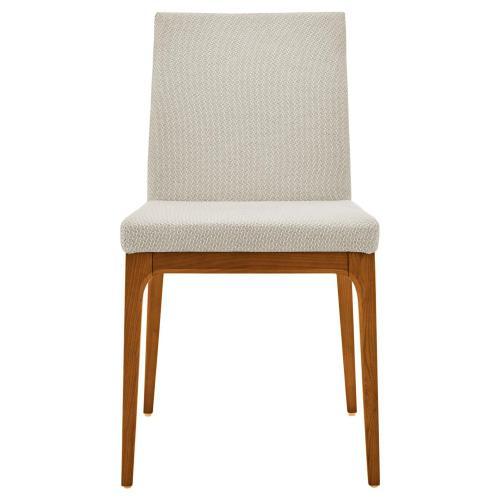 Devon KD Fabric Chair Walnut Legs, Cardiff Cream