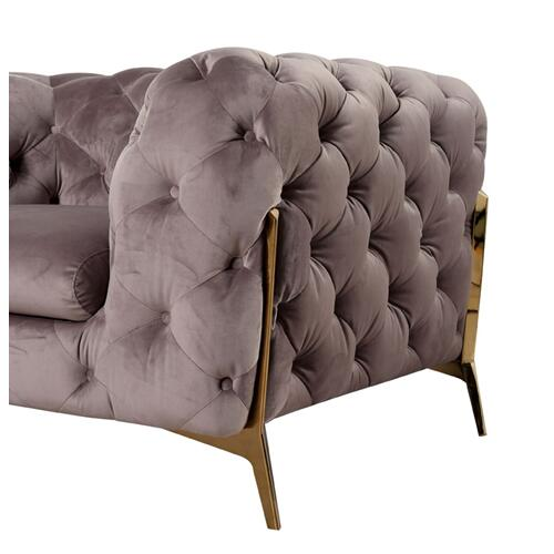 Divani Casa Sheila Modern Silver Fabric Sofa Set