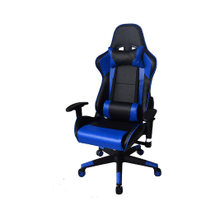 Ergonomic Racing Gaming Chair with Head Cushions and Adjustable Armrest - Blue